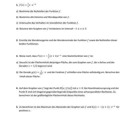 funktion kurvendiskussion geradengleichungen flaechen