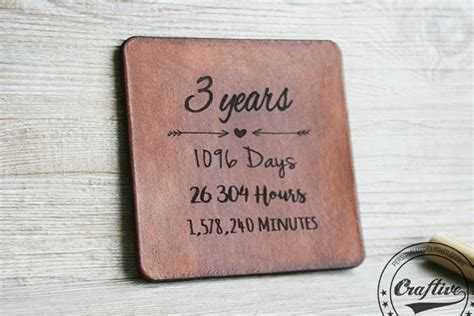 3 year anniversary gift leather gifts for men 3rd anniversary wedding celebrations