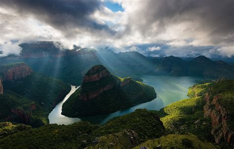 Landscape, Nature, Sunrise, Canyon, River, South Africa
