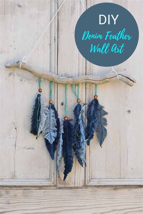 Choose the curled curtains that are right for you, without neglecting the combination with the furniture, the colors of the walls and the brightness of the room. How To Make Denim Feather Wall Decor - Pillar Box Blue