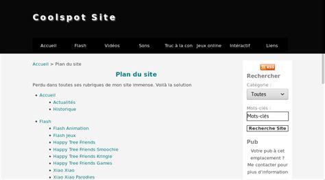 Plan Du Site  Délire Et Fun Du Coolspot Site