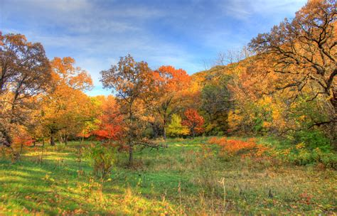 great colorful autumn landscape  perrot state park