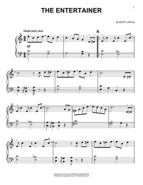 Find your perfect arrangement and access a variety of transpositions so you can print and play instantly, anywhere. The Entertainer Sheet Music   Scott Joplin   Easy Piano