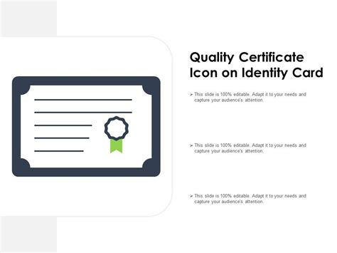 quality certificate icon  identity card powerpoint