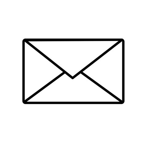 white mail icon vector png clipart mail 1 icon