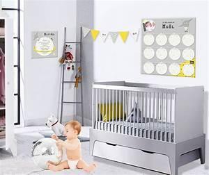 une decoration chambre bebe originale jaune et grise avec With chambre bébé design avec livraison fleurs derniere minute