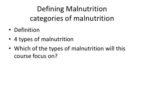 hunger definition lecture 3 defining malnutrition for posting 1