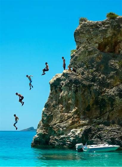 Cliff Jumping Beach Jumps Jump Diving Guy
