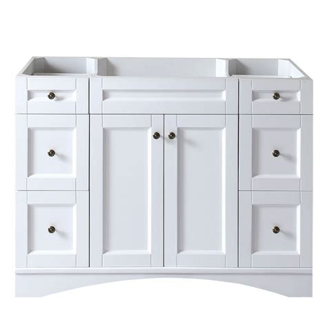 virtu usa elise   white single sink cabinet
