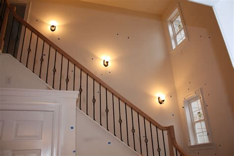stairwell sconce stairs hoos building