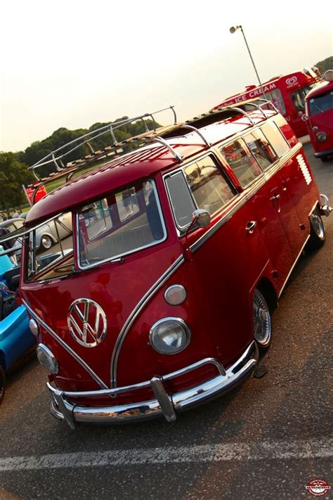 Candy Apple Red VW Bus