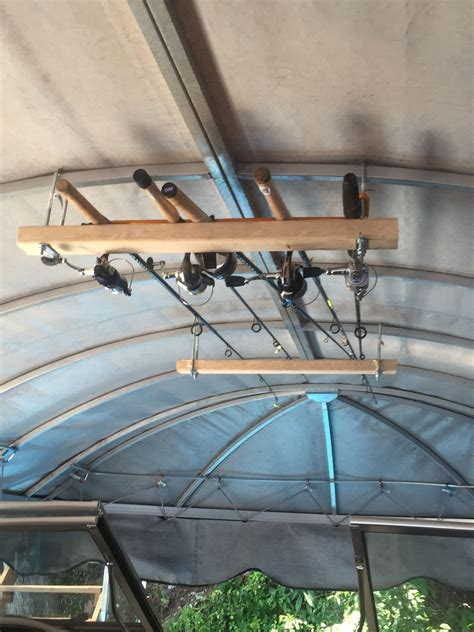 Boat Canopy Rod Holders by Fishing Pole Holders Boat Lift Canopy Storage And