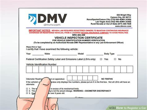 How To Register A Car (with Pictures)