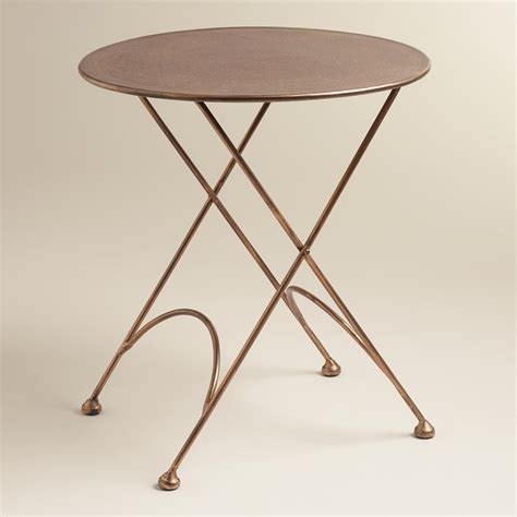round metal end table round ariana metal accent table world market