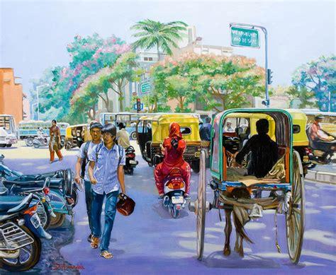 daily painting  artist dominique amendola india street