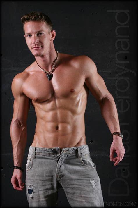 Muscle Naked Bodybuilder Darius Ferdynand Jerking Uncut