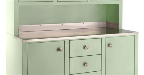 kitchen steel cabinets vintage style lab hutch powder coated steel replica 1930 3102