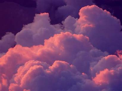 Clouds Pink Wallpapers Aesthetic Background Sky Desktop