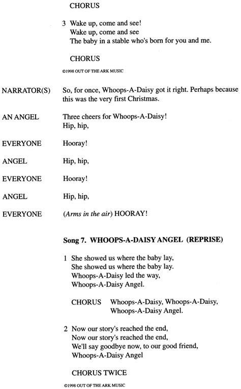 whoops  daisy angel nativity play    ark
