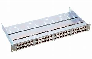 19 U0026quot  1u Hd Patch Panel 48xrj45  S  Cat  6a  Gray  Fully