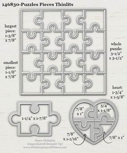 Stampin Puzzle Pieces Dostamping Measurements Annual Sizes