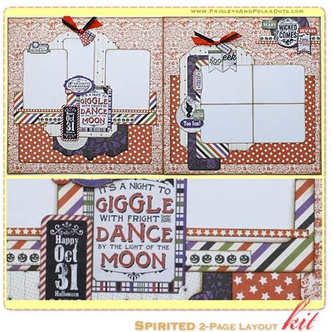 Spirited Scrapbook Layout Kit, Complete With Instructions