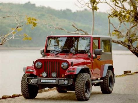 thar jeep modified in kerala this customised thar is a drop dead gorgeous replica of