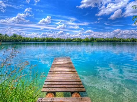 Beautiful Background Images Background Beautiful Nature Lake Blue Sky With White