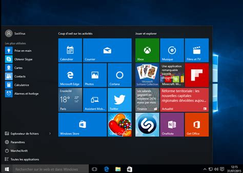 bureau windows mettre a niveau windows 10 sosvirus