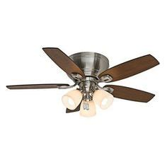 westminster 5 minute 52 in brushed nickel downrod or flush mount ceiling fan with light