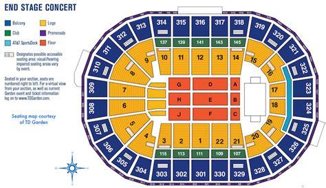 boston garden seating td garden boston sports and entertainment arena