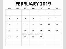 February 2019 Calendar FREE DOWNLOAD Freemium Templates