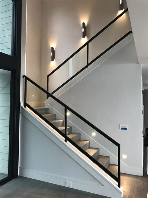 Wood And Glass Staircase Railing  Founder Stair Design