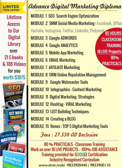digital marketing course information counselling course counselling course in mumbai
