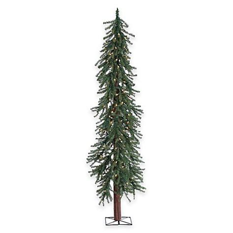 buy 6 foot alpine pine pre lit christmas tree with clear