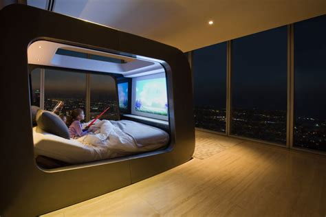 hican futuristic canopy luxury bed contemporary