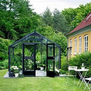 Serre Fer Forgé : serre de jardin 8 8m anthracite et verre horticole ~ Teatrodelosmanantiales.com Idées de Décoration