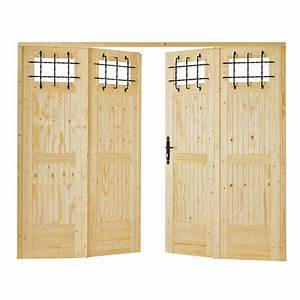 porte de garage vailly pliante sapin avec lucarnes et With porte de garage pliante 4 vantaux