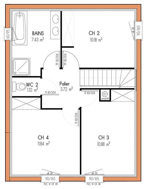 plan maison etage 4 chambres 1 bureau plan maison etage 4 chambres 1 bureau idées novatrices