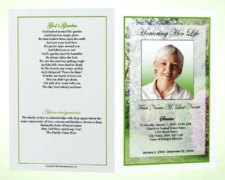 Free Funeral Trifold Brochure By Elegantflyer Free Tri Fold Funeral Program Template Free Funeral