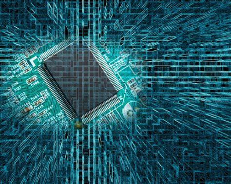 chip na placa de circuito  fundo da tecnologia abstrata