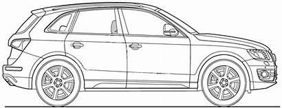 Audi Q5 Blueprints Suv Q7 Vector Outline