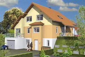 Einfamilienhaus Hanglage Planen : glass furniture doppelhaus fertigteilhaus ~ Lizthompson.info Haus und Dekorationen