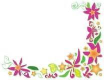 Hochsteckfrisurenen Mit Locken Und Blumen by Blumenecke Mit Sternen Blumen Und Locken Stock Abbildung Bild 51752439