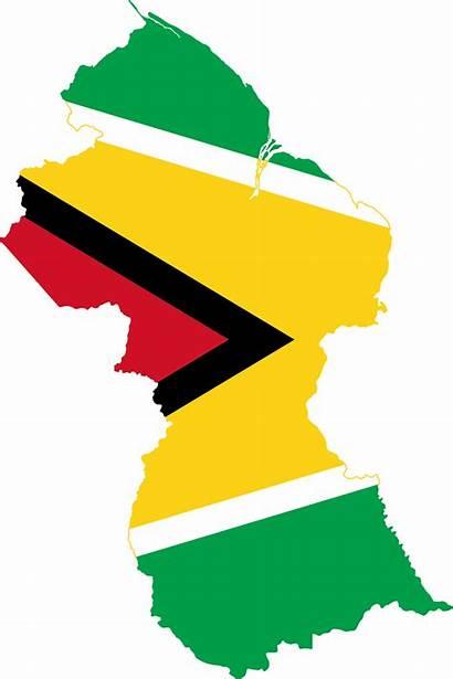 Guyana Flag Country Map Guyanese Svg Maps