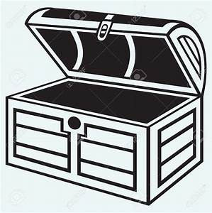 Trunk clipart open treasure chest - Pencil and in color ...