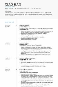 Software Engineer Cv Example Junior Software Developer Resume Task List Templates