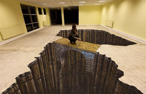 Joe Hill Art   3D Pavement Art