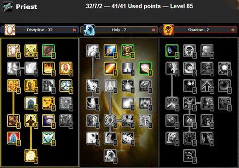 pvp talent build priest wow discipline guide rogue cata glyphs sub slot disc pve wotlk combat arena leveling