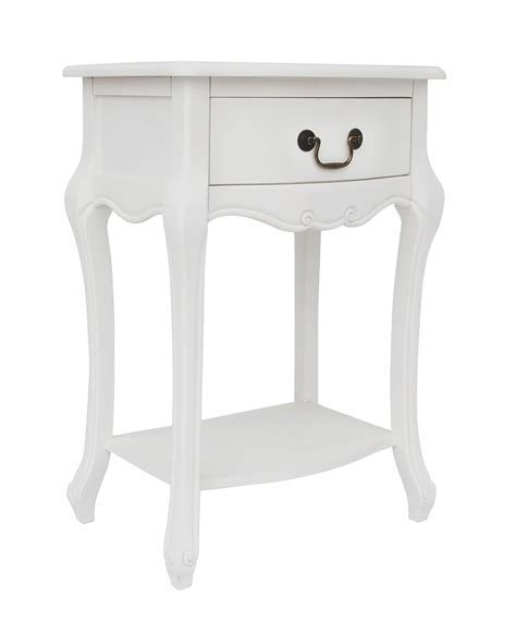 white shabby chic bedside table shabby chic white 1 drawer bedside table bedroom furniture direct